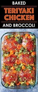 Baked Teriyaki Chicken and Broccol - 220 Best Broccoli Recipes - RecipePin.com