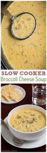 Slow Cooker Broccoli Cheese Soup - - 220 Best Broccoli Recipes - RecipePin.com
