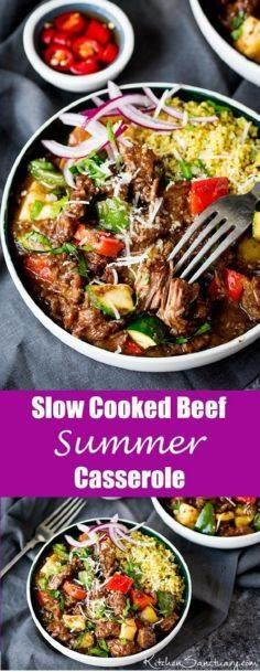 Slow Cooked Summer Beef Casserole. - 300 Casserole Recipes - RecipePin.com