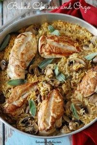 Baked Chicken and Orzo - 300 Chicken Recipes - RecipePin.com