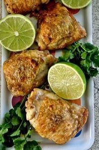 Simple Roasted Lime Chicken Thighs - 300 Chicken Recipes - RecipePin.com