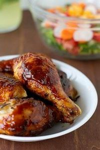 Delicious Oven-Baked BBQ Chicken - 300 Chicken Recipes - RecipePin.com