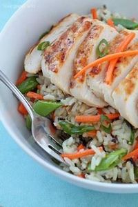 Grilled Citrus Chicken Rice Bowls  - 300 Chicken Recipes - RecipePin.com