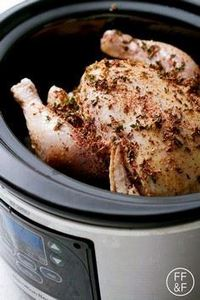 Herb Rubbed Slow Cooker Whole Chic - 300 Chicken Recipes - RecipePin.com