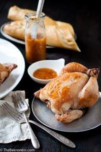 Beer Brined Roasted Cornish Game H - 300 Chicken Recipes - RecipePin.com