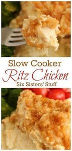 Slow Cooker Ritz Chicken from @six - 300 Chicken Recipes - RecipePin.com