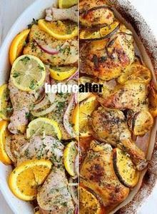 Herb and Citrus Oven Roasted Chick - 300 Chicken Recipes - RecipePin.com