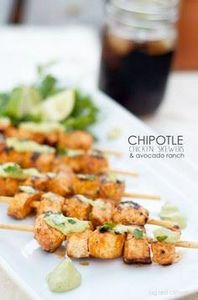 chipotle lime chicken skewers &amp - 300 Chicken Recipes - RecipePin.com