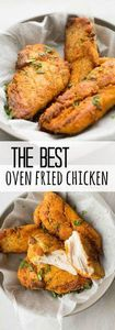 Easy oven fried chicken that taste - 300 Chicken Recipes - RecipePin.com