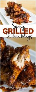 Spicy Grilled Chicken Wings - 300 Chicken Recipes - RecipePin.com