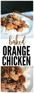 This Baked Orange Chicken from Six - 300 Chicken Recipes - RecipePin.com