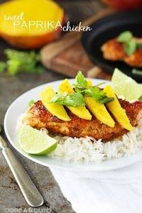 Sweet Paprika Chicken {only 5 ingr - 300 Chicken Recipes - RecipePin.com