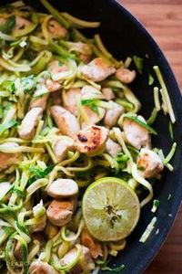 Cilantro Lime Chicken with Zoodles - 300 Chicken Recipes - RecipePin.com