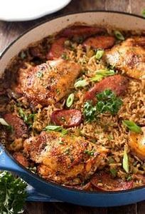 One Pot Chicken and Dirty Rice Rec - 300 Chicken Recipes - RecipePin.com