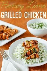 Honey Lime Grilled Chicken | unsop - 300 Chicken Recipes - RecipePin.com