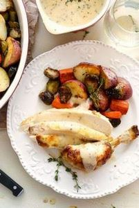 Oven Roasted Chicken and Vegetable - 300 Chicken Recipes - RecipePin.com