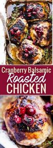 Balsamic Roasted Chicken with Cran - 300 Chicken Recipes - RecipePin.com
