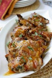 Grilled Chicken Thighs with Tamari - 300 Chicken Recipes - RecipePin.com