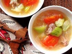 Healthy Silk Gourd Tomato Soup - 235 Chinese Recipes - RecipePin.com