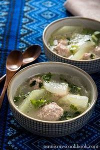 Winter Melon Meatball Soup (&#2090 - 235 Chinese Recipes - RecipePin.com