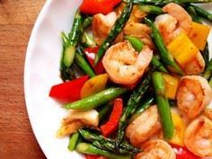 Asparagus with Shrimp - 235 Chinese Recipes - RecipePin.com
