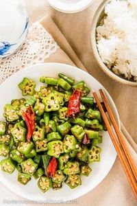 Four-Ingredient Okra Stir-fry | om - 235 Chinese Recipes - RecipePin.com