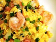 Chinese Scrambled Eggs with Shrimp - 235 Chinese Recipes - RecipePin.com