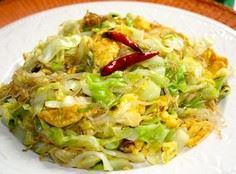 Cabbage & Glass Noodle Egg Sti - 235 Chinese Recipes - RecipePin.com