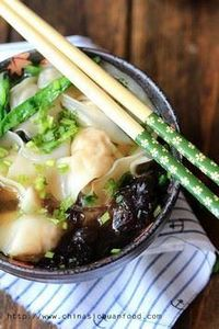 Cantonese Shrimp Wonton Soup - 235 Chinese Recipes - RecipePin.com