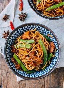 Steamed Noodles with Green Beans,  - 235 Chinese Recipes - RecipePin.com