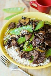 Asian Beef with Mushrooms & Sn - 235 Chinese Recipes - RecipePin.com