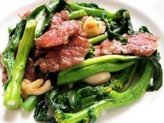 Beef Stir Fry with Choy Sum - 235 Chinese Recipes - RecipePin.com