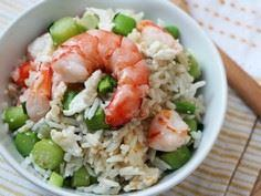 Kai-Lan Fried Rice with Shrimps - 235 Chinese Recipes - RecipePin.com