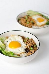 Chinese ground chicken bowl | Omni - 235 Chinese Recipes - RecipePin.com