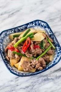 Stir Fried Chinese Yam with Beef - 235 Chinese Recipes - RecipePin.com