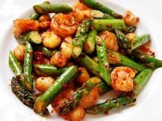 Asparagus with Shrimp & Scallo - 235 Chinese Recipes - RecipePin.com