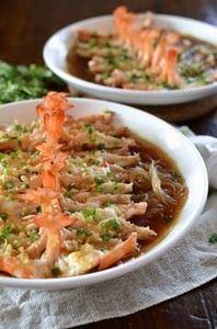 Steamed Shrimp with Glass Noodles  - 235 Chinese Recipes - RecipePin.com