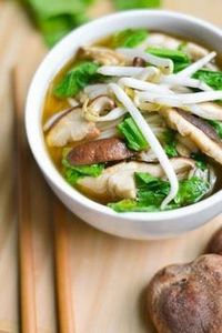 Bok Choy and Shiitake Noodle Soup - 235 Chinese Recipes - RecipePin.com