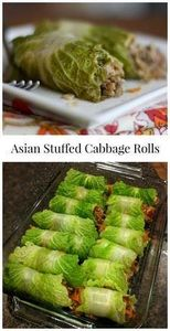 Asian Stuffed Napa Cabbage Rolls | - 235 Chinese Recipes - RecipePin.com