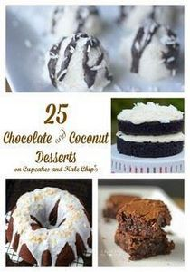 25 Chocolate and Coconut Desserts  - 230 Chocolate Dessert Recipes - RecipePin.com