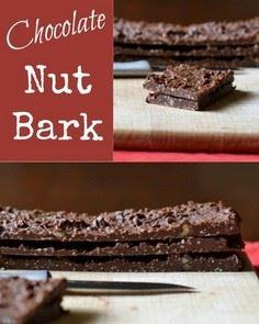 This healthy chocolate nut bark fr - 230 Chocolate Dessert Recipes - RecipePin.com
