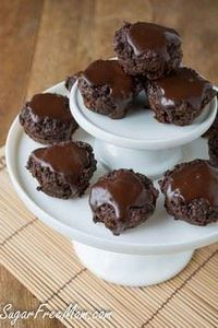 Quinoa Brownie Bites #sugarfree #g - 230 Chocolate Dessert Recipes - RecipePin.com