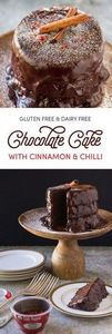Gluten Free Chocolate Cake with Ci - 230 Chocolate Dessert Recipes - RecipePin.com