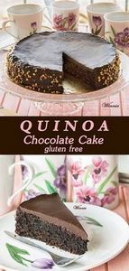 Moist and rich Quinoa Chocolate Ca - 230 Chocolate Dessert Recipes - RecipePin.com