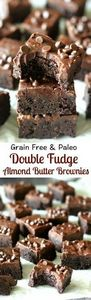 Grain Free and Paleo Double Fudge  - 230 Chocolate Dessert Recipes - RecipePin.com