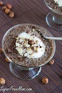 Sugar-Free Nutella Chia Pudding #l - 230 Chocolate Dessert Recipes - RecipePin.com