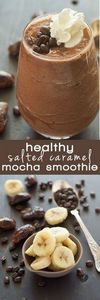 This Healthy Salted Caramel Mocha  - 230 Chocolate Dessert Recipes - RecipePin.com