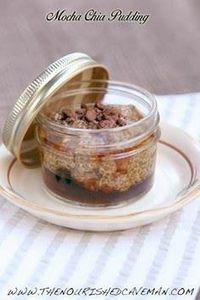 Mocha Chia Pudding By The nourishe - 230 Chocolate Dessert Recipes - RecipePin.com