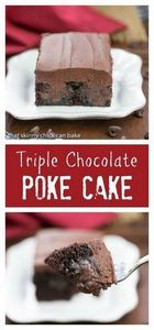 Triple Chocolate Poke Cake | Moist - 230 Chocolate Dessert Recipes - RecipePin.com
