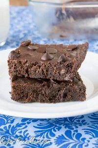 Sugar Free Chocolate Brownies with - 230 Chocolate Dessert Recipes - RecipePin.com